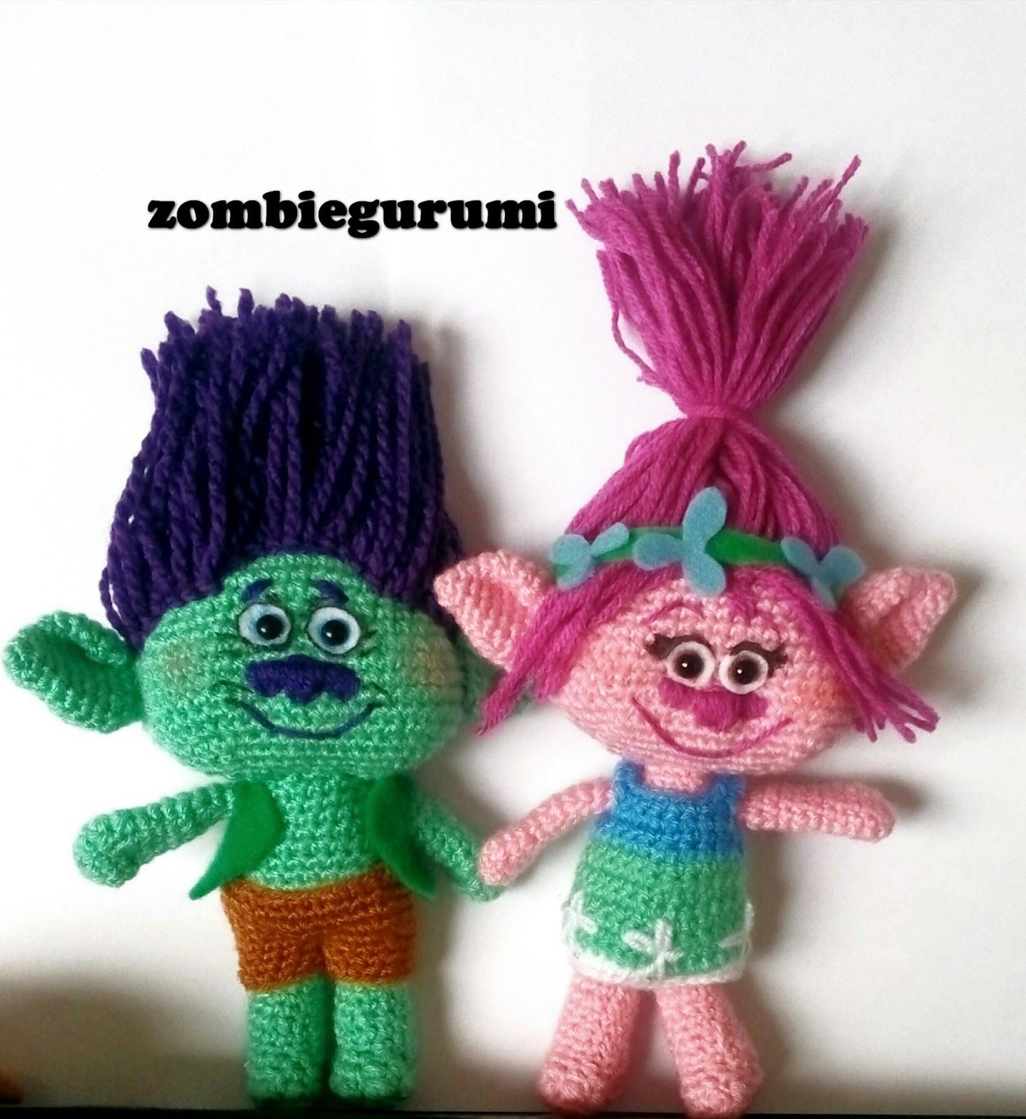 Crochet Pattern For Troll Hat : trolls amigurumi crochet toys Pinterest Amigurumi