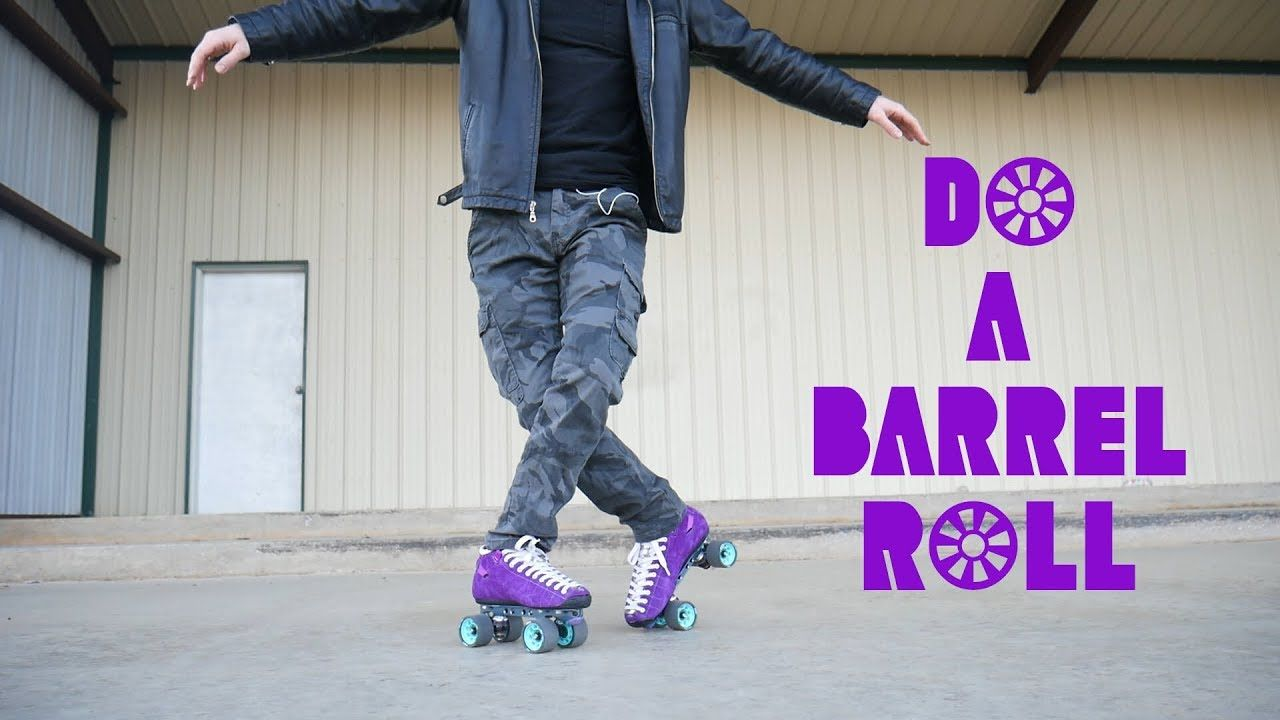 How To Do A Barrel Roll In Skates Inline Quad Tutorial Roller Derby Skates Quad Roller Skates Roller Skaters