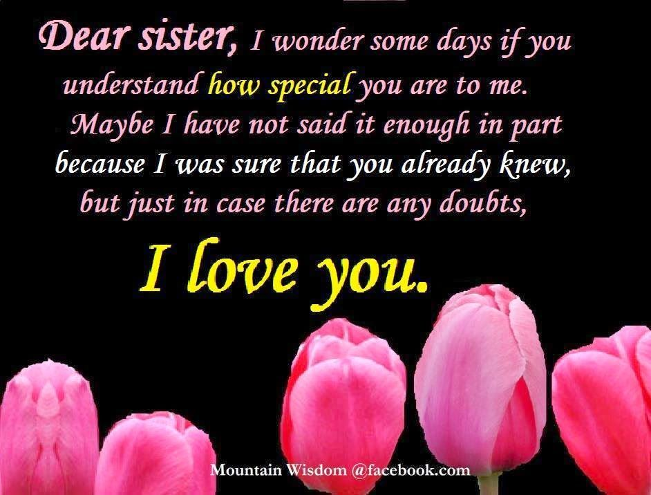 Daveswordsofwisdom Com My Sister I Love You My Sister Quotes Sister Birthday Quotes Happy Mother Day Quotes