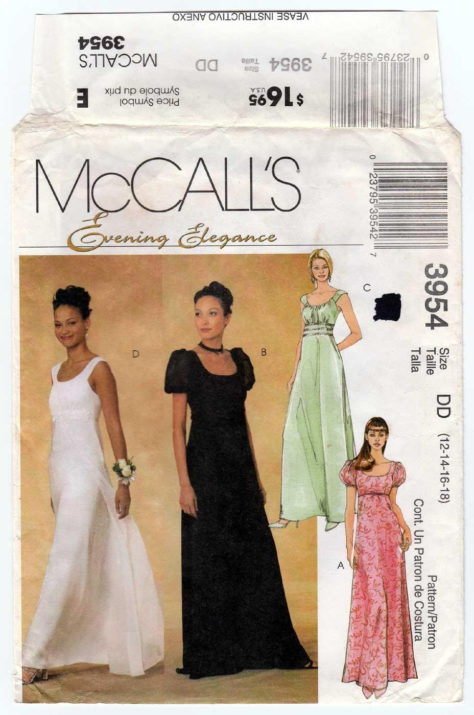 0ca447776595 McCall s 3954 UNCUT Sewing Pattern Misses    Petite Size  12 - 14 - 16