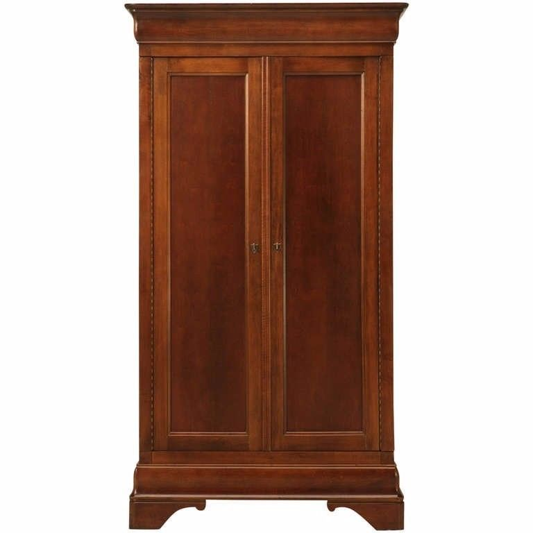 Vintage American Cherry Louis Philippe Style Armoire By National