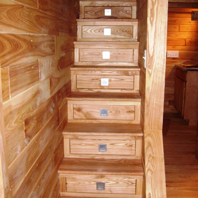 What A Great Space Saver If You Are Designing Your Home Yourself. Turn The  Stairs Into Drawers! Tiny House Interior Finish Stairs With Drawers.great  Idea ...