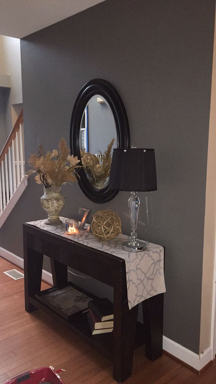 Sherwin Williams Gauntlet Gray As An Accent Wall