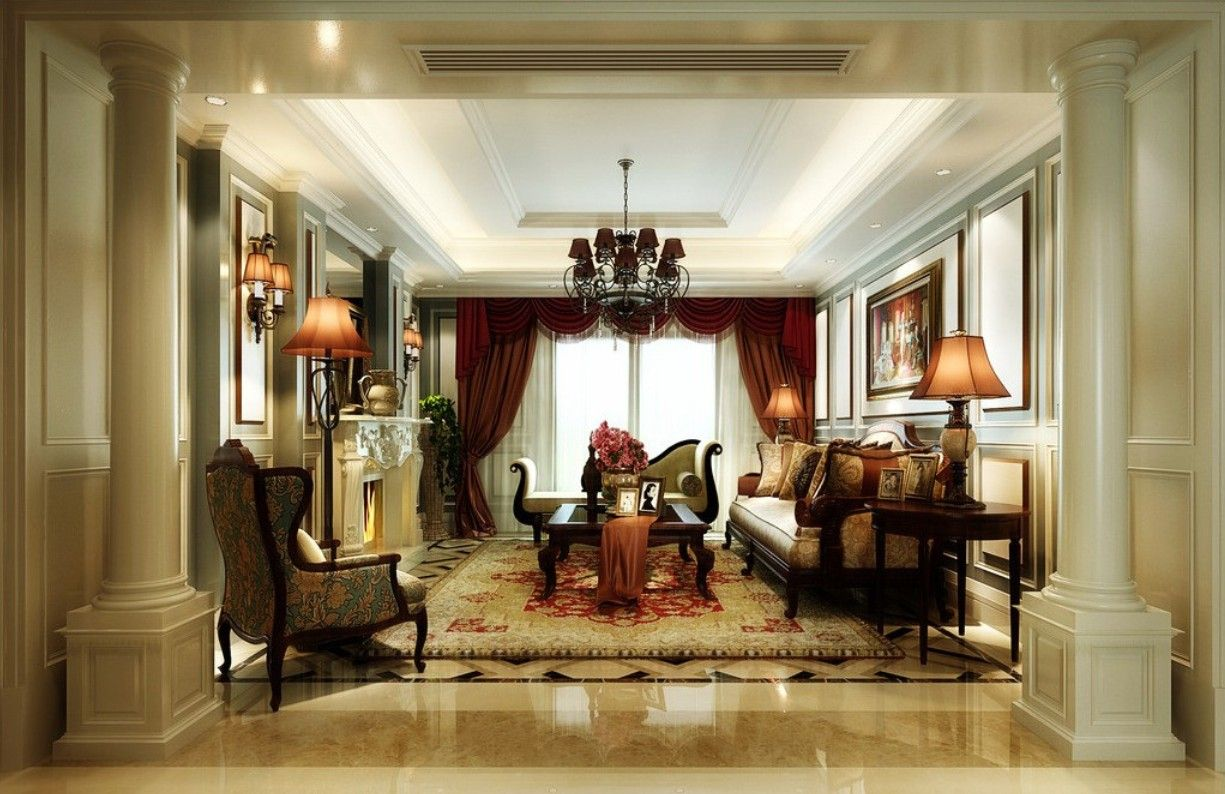 Elegant Room · Interior Design Living Room Classic Part 4