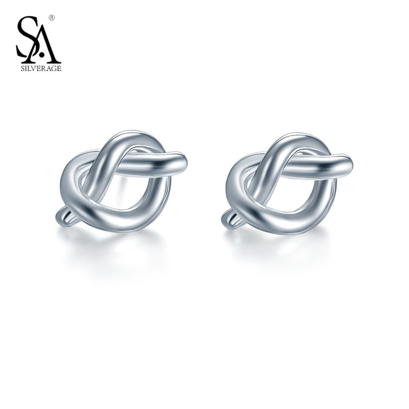 SILVERAGE 925 Sterling Silver White Gold Heart Stud Earrings For Women With Cubic Zirconia Gift For Mom/Daughter gFn8xKbwF