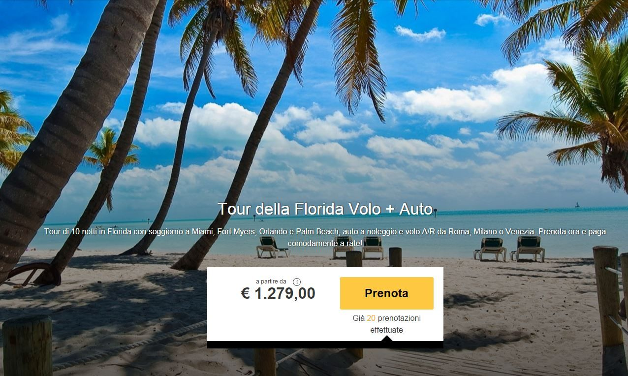 Scopri la Florida: Volo più 10 notti in Hotel, più noleggio auto a ...