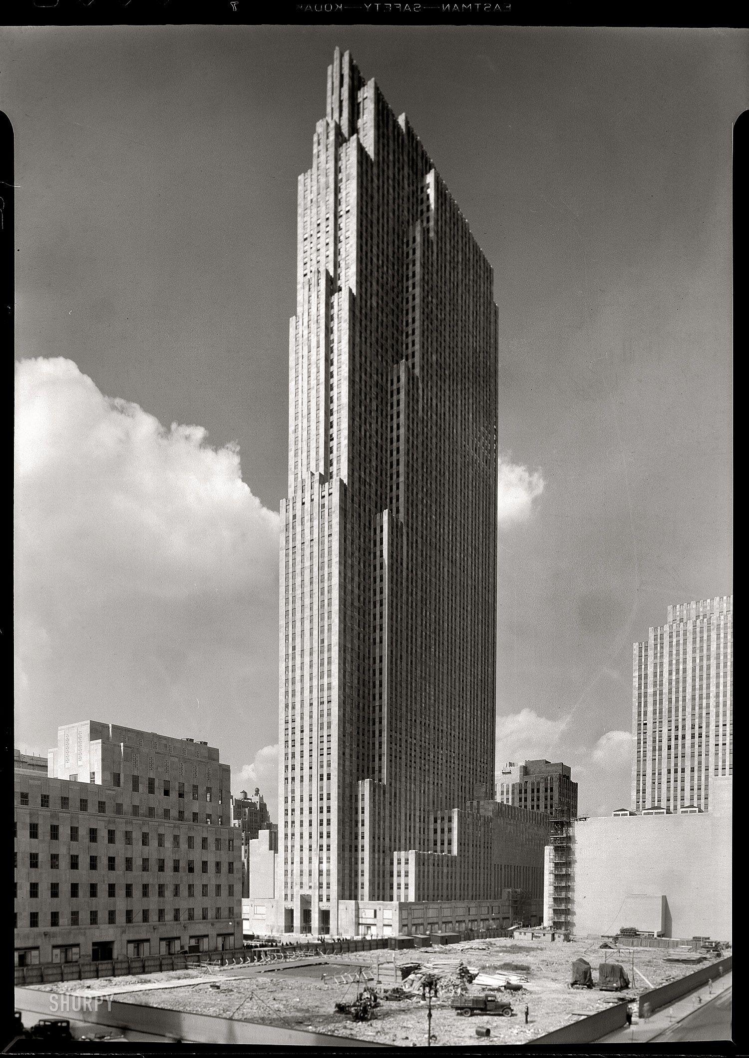 """September 1, 1933. """"Rockefeller Center, New York City. RCA"""