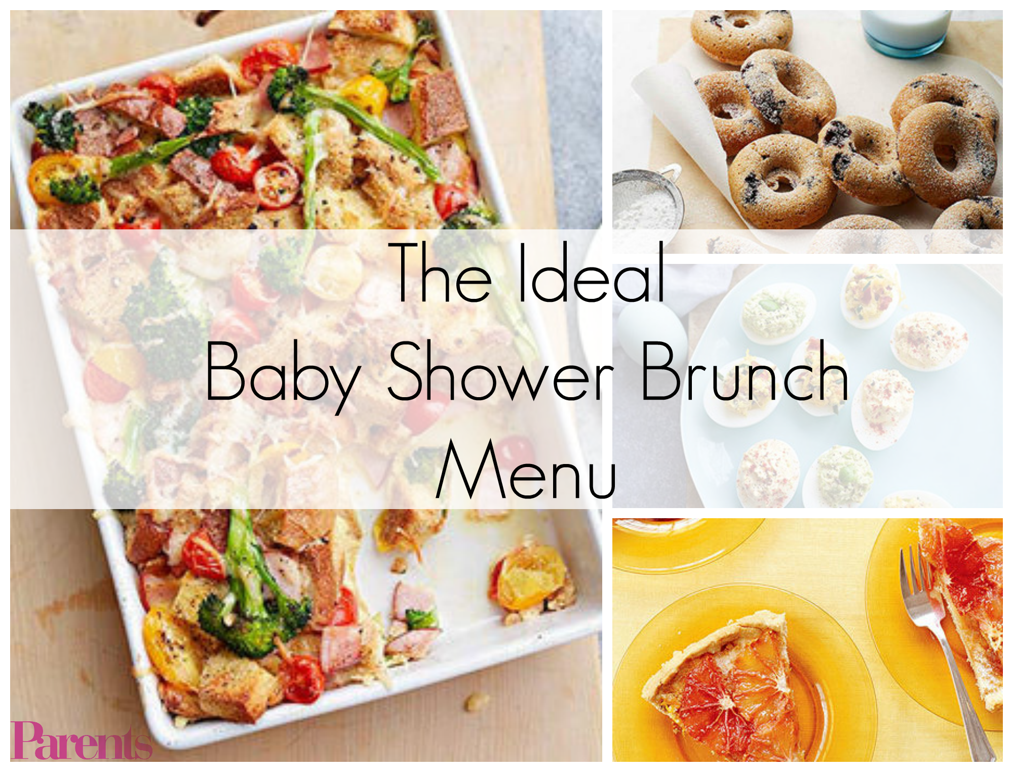 The Ideal Baby Shower Brunch Menu | Pinterest | Baby shower brunch ...