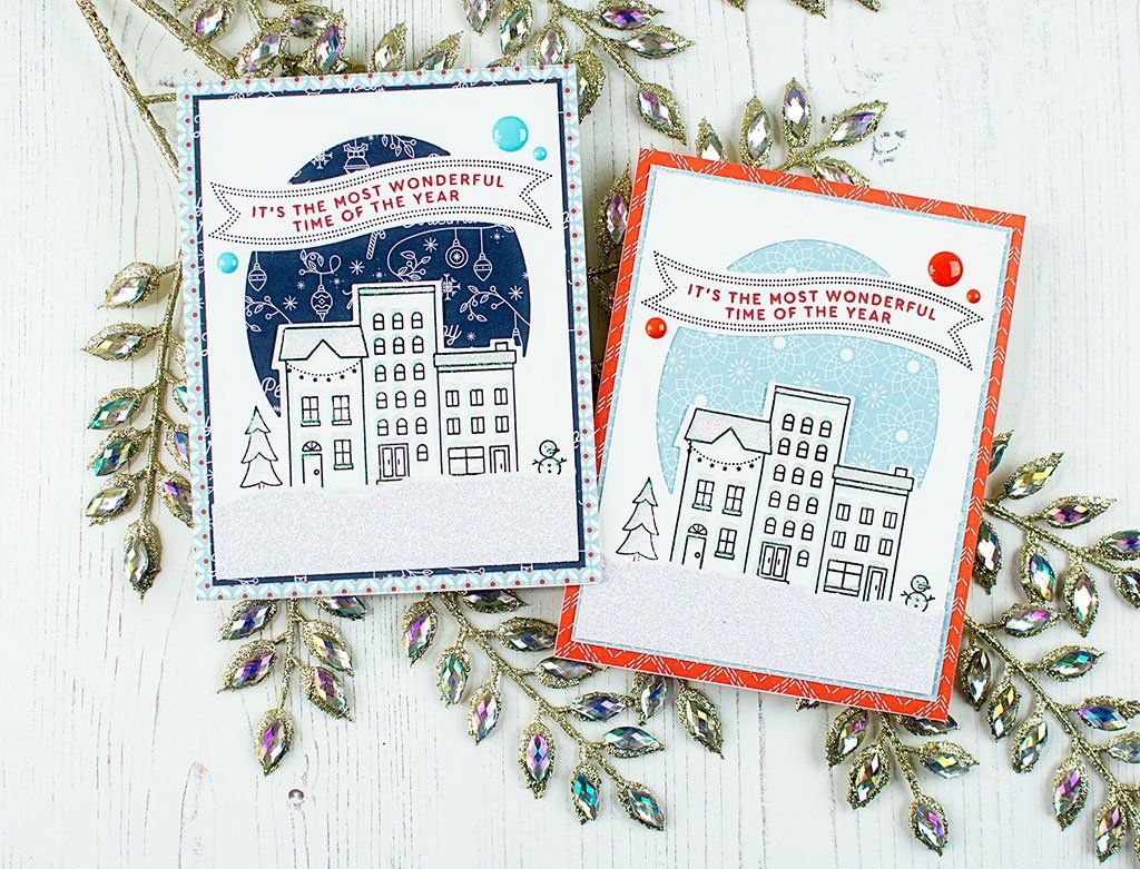 Christmas City Studio.Holiday Vibes Christmas City Cards Pink Fresh Cards