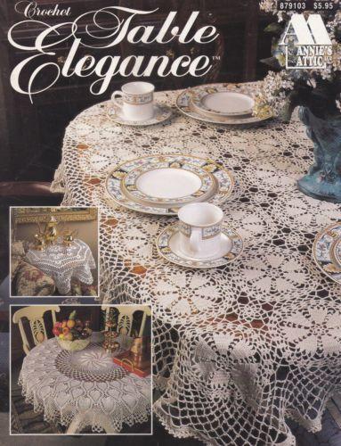 Table Elegance Annies Attic Crochet Thread Tablecloths Pattern