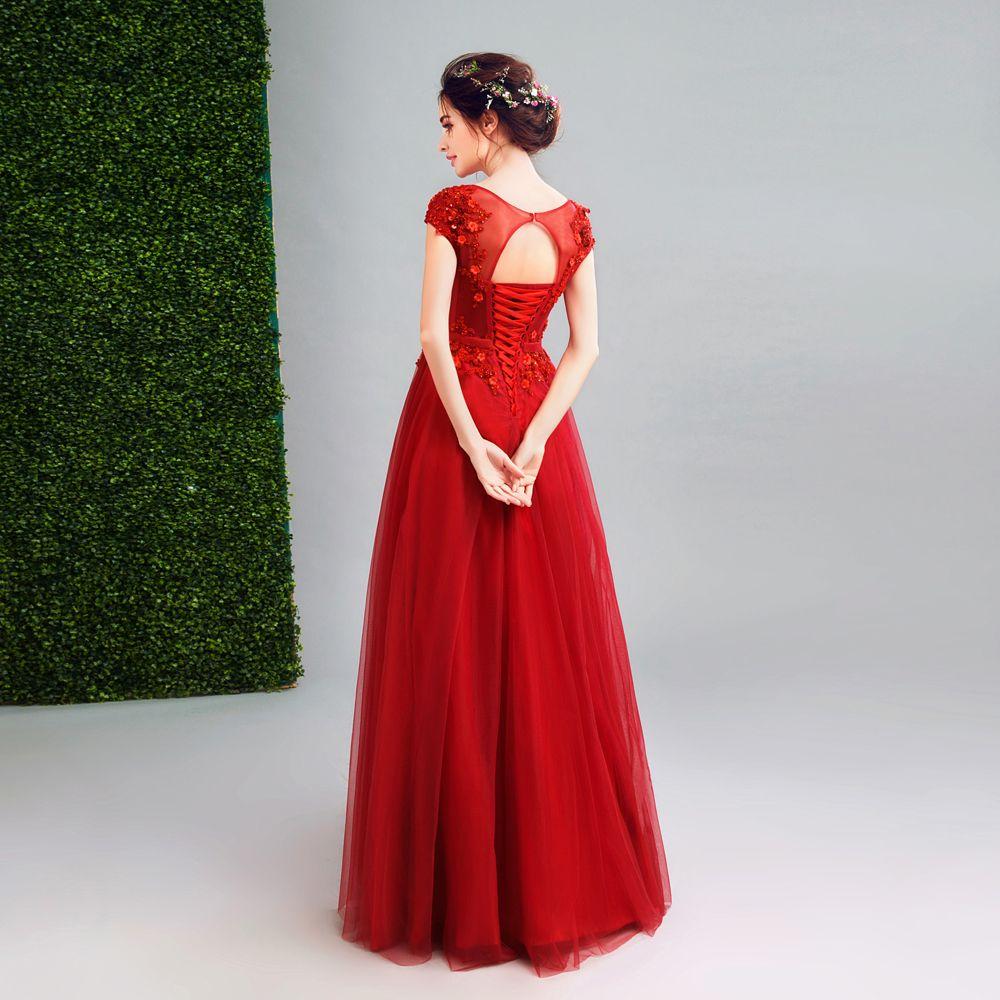 Angel Wedding Dress Marriage Evening Bride Party Prom Bridal Gown Vestido De Noiva 2017 Wine Red: Red Diamond Wedding Dresses At Reisefeber.org