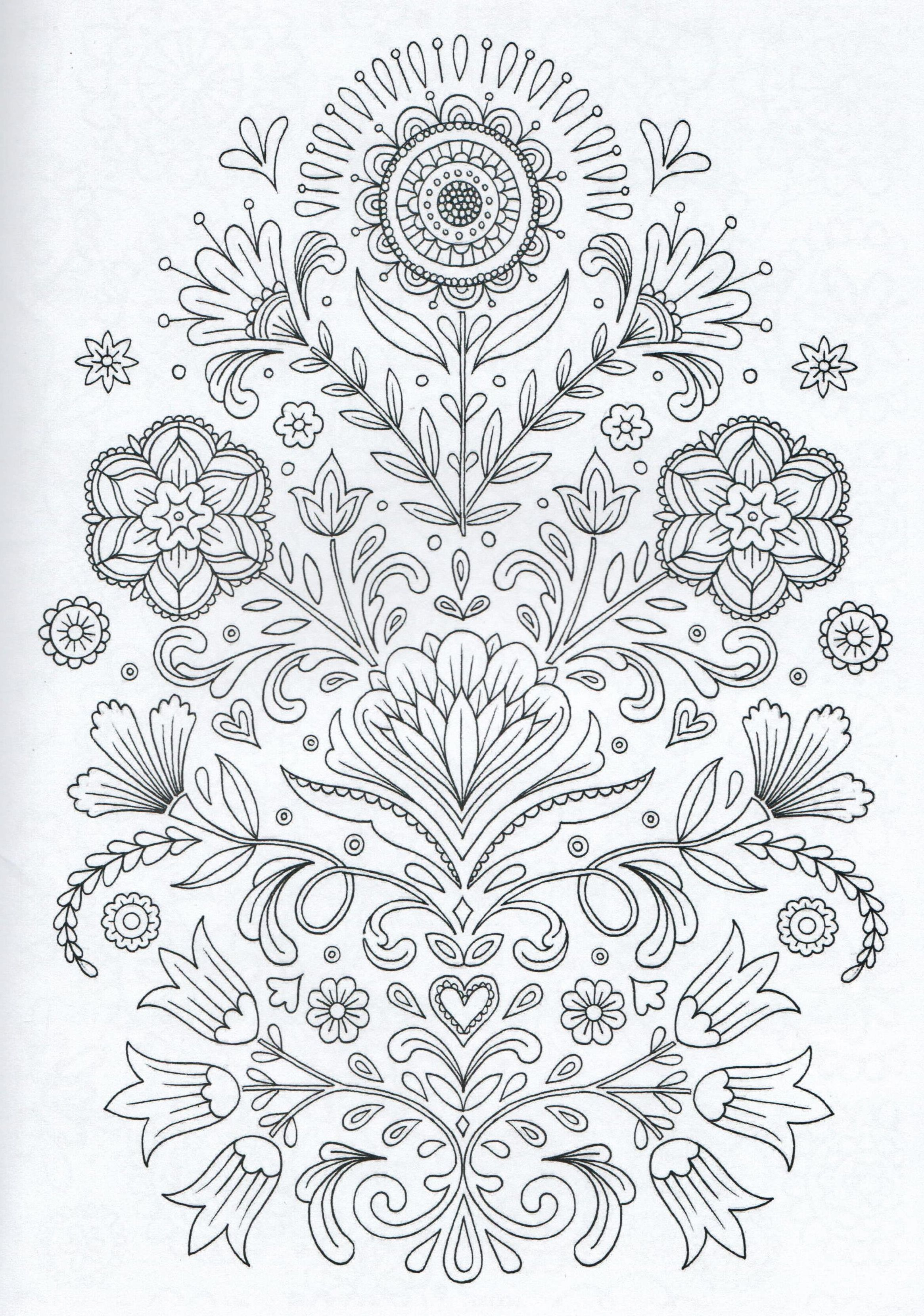 Scandinavian Coloring Book Pg 4 Color pages Stencils