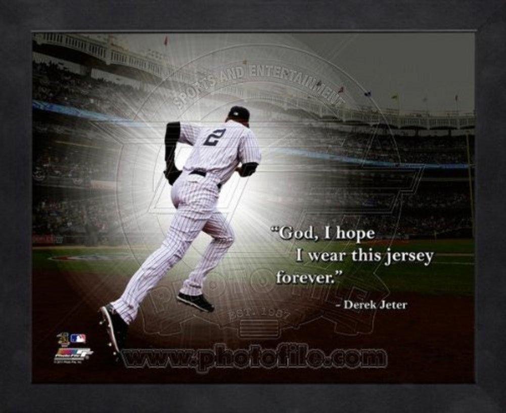 Mlb New York Yankees Derek Jeter Pro Quote Picture Frame Derek Jeter New York Yankees Mlb Quotes