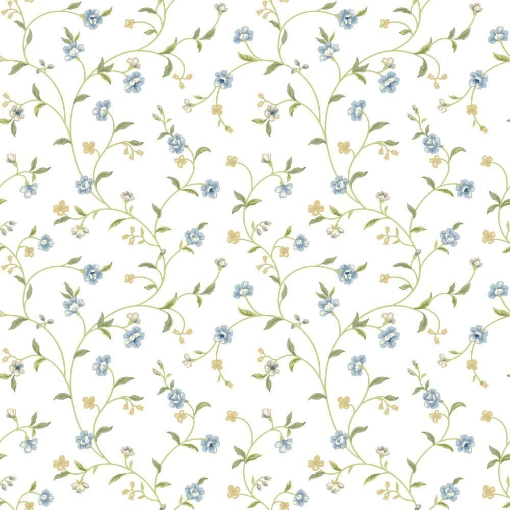 York Wallcoverings Waverly Cottage Bellisima Vine Paper Strippable Roll Wallpaper (Covers 56 sq. ft.)-ER8186 - The Home Depot