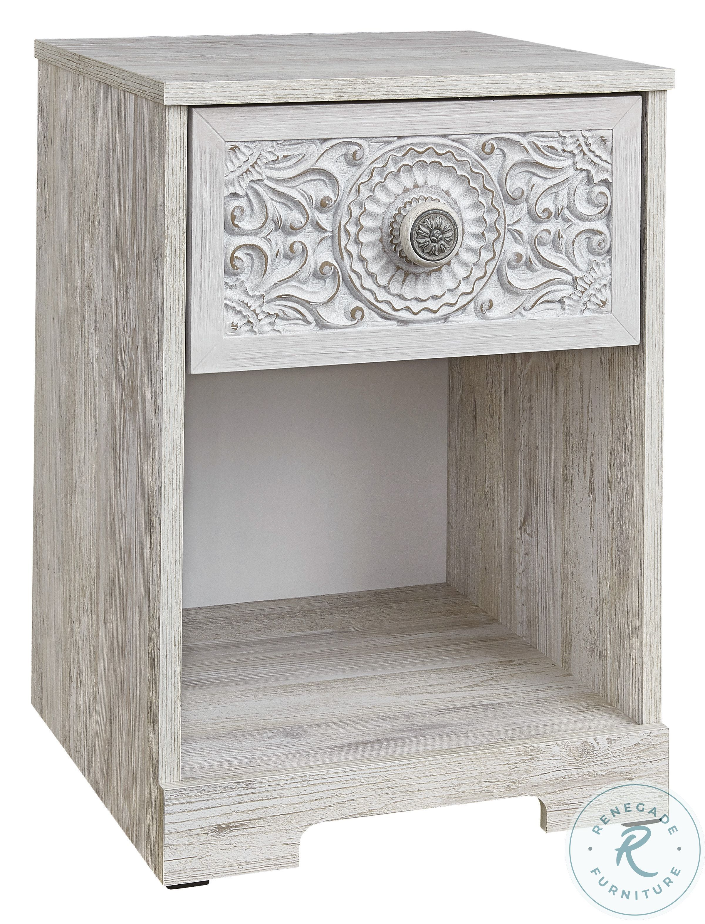 Fossil Ridge White Accent Cabinet In 2020 White Washed Nightstand Ashley Furniture Furniture