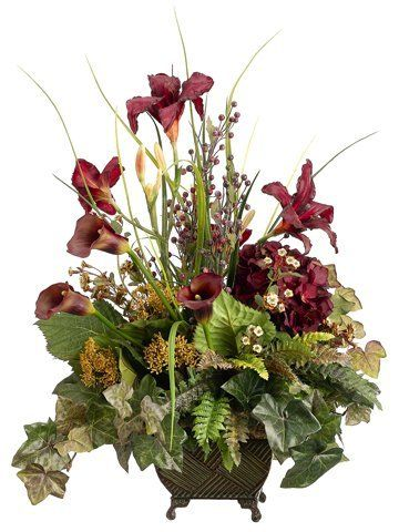 27 artificial burgundy calla lily hydrangea silk flower 27 artificial burgundy calla lily hydrangea silk flower arrangement by allstate http mightylinksfo