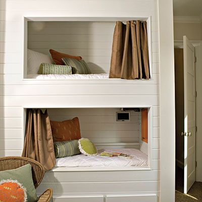 Kids Bedroom Nook each of these bunk bed cubbies in a shared kids' room feature a