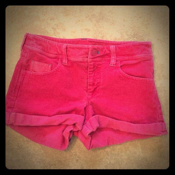 Princess Vera Wang pink curdouroy shorts Preowned short shorts Vera Wang Shorts