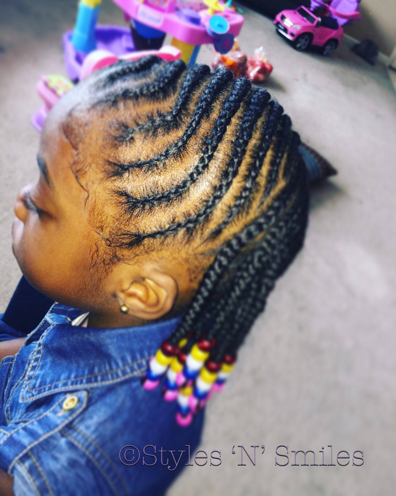 Braids blackgirlmagic beads black girls pinterest girl