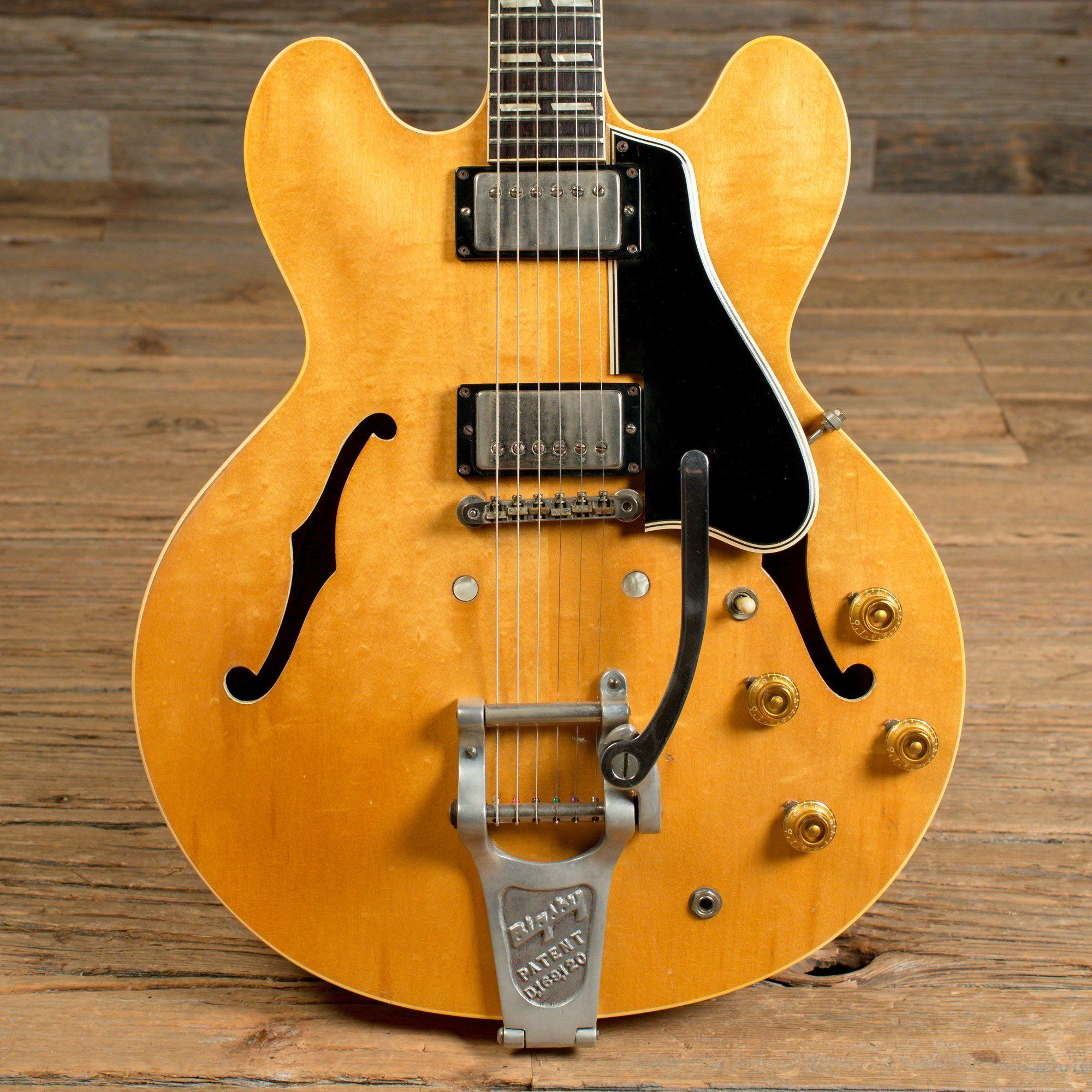 Gibson ES 335 TDN with Custom Factory Split Parallelogram Inlays and Bigsby Natural 1960