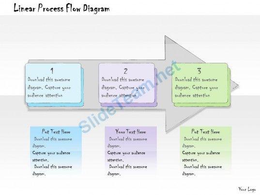 1013 Business Ppt Diagram Linear Process Flow Diagram Powerpoint - process flow diagram template