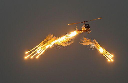 Neues Selbstschutzsystem für Hubschrauber aus der Schweiz   Fotograf: WUCHER Helicopter GmbH   Credit:WUCHER Helicopter GmbH   Mehr Informationen und Bilddownload in voller Auflösung: http://www.ots.at/presseaussendung/OBS_20120224_OBS0012