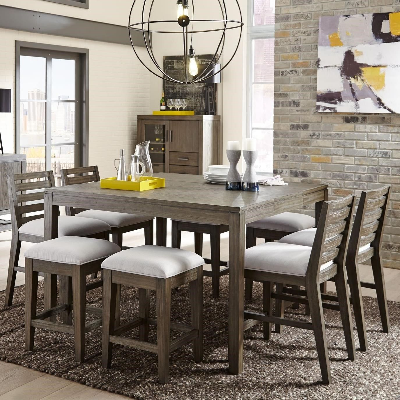 Brynwood white 5 pc round dining set dining room sets colors - Bravo 9 Piece Counter Height Dining Set By Casana Counter Height Dining Setsdining Table