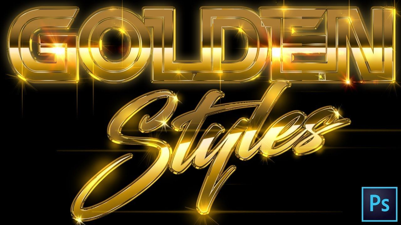 Adobe Tutorial 2019 Gold Text Effects Styles