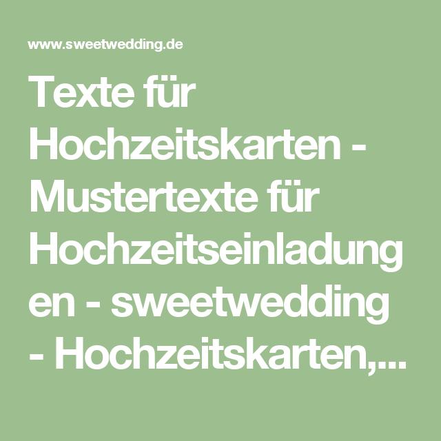 Texte Fur Hochzeitskarten Mustertexte Fur Hochzeitseinladungen