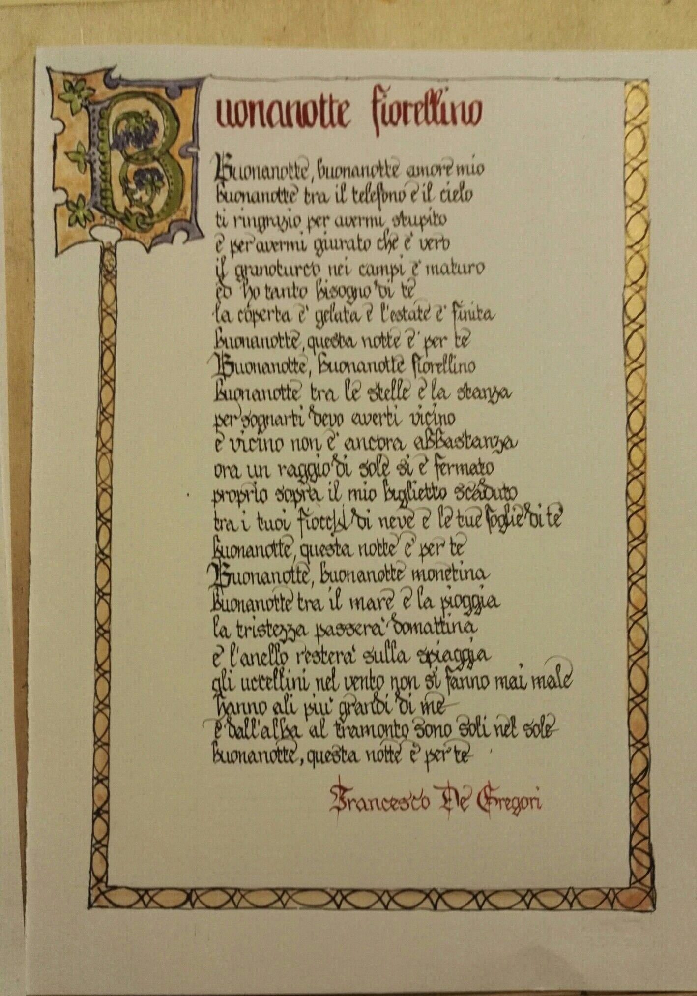 """""""Buonanotte fiorellino"""" song by Francesco DeGregori"""