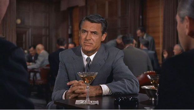 Cary Grant at the Oak Bar in North by Northwest