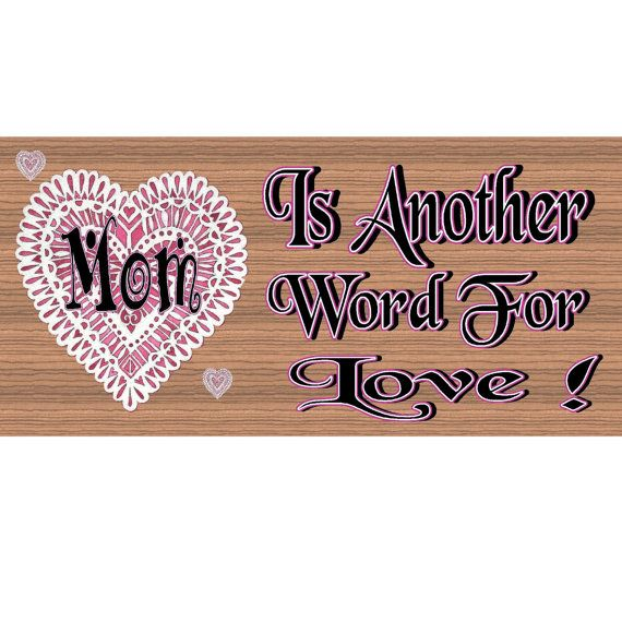 Mom Wood Signs  Mom  Mothers Day GS1086 Wood Signs by GiggleSticks