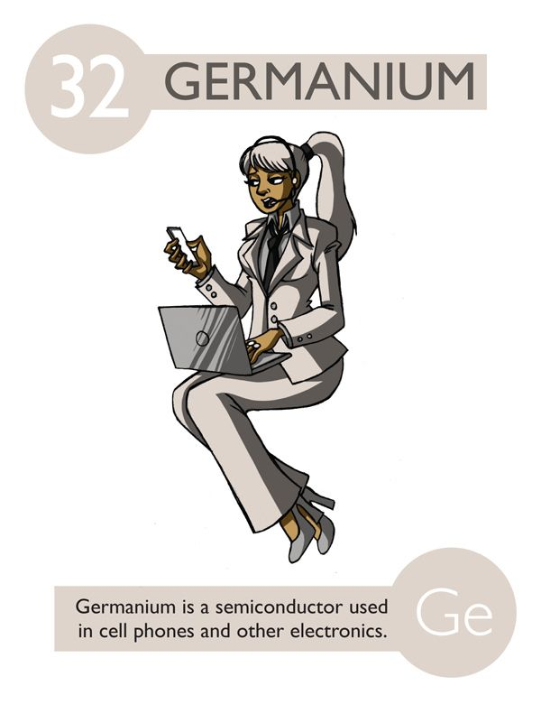 32 germanium if the periodic table was personified - Periodic Table As Characters