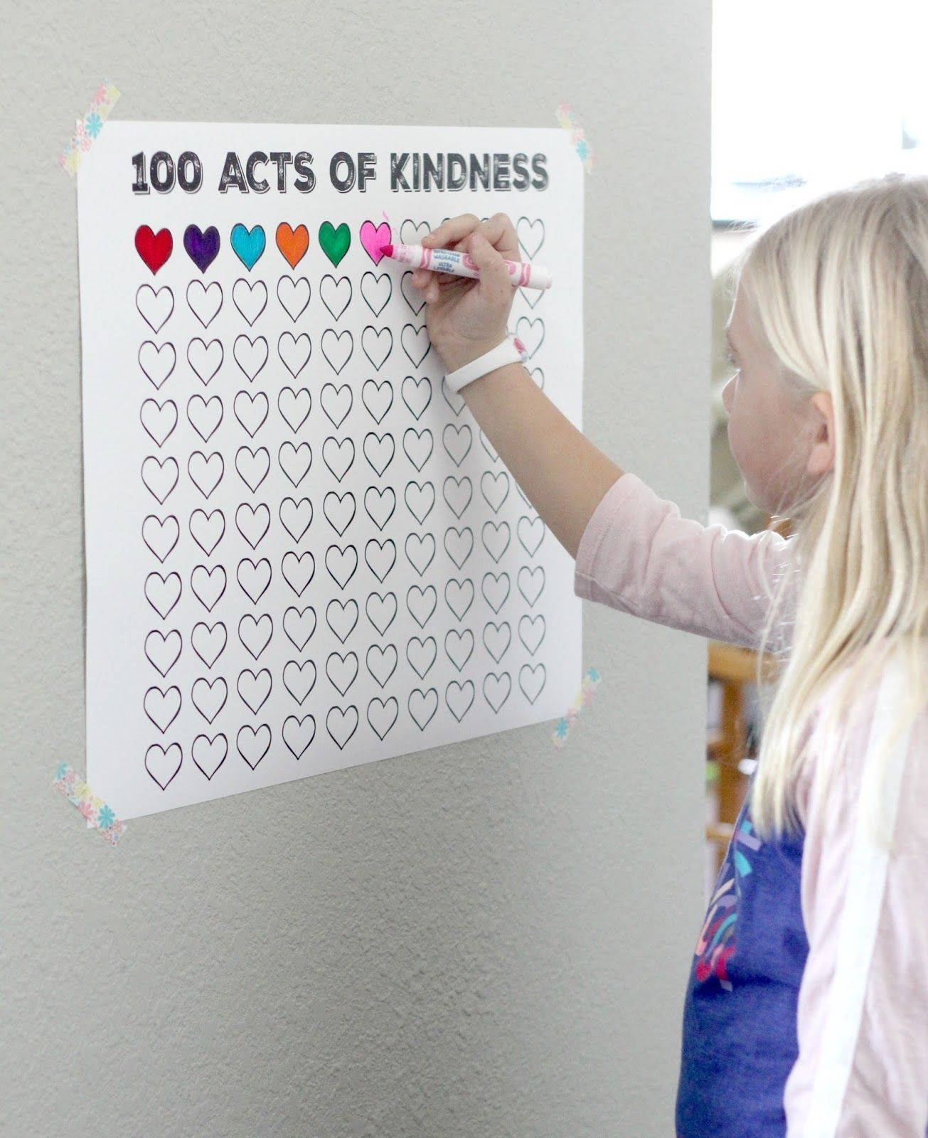100 Acts Of Kindness Free Printable Countdown Poster 100actsofkindness Parentingteacher Kids Learning Kids And Parenting Classroom