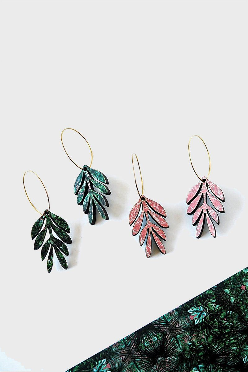 245f9e886 Long leaf hoop earrings | Career | Pinterest | Hoop Earrings ...