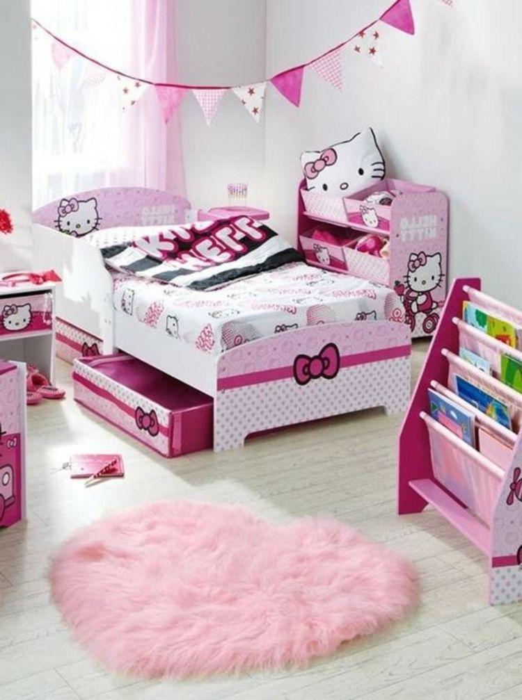 Bon Déco De Chambre Fille Avec Hello Kitty