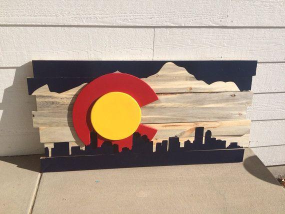 Colorado Sign Colorado Flag Sign Colorado Decor Colorado Sign Decor Colorado Flag Art Colorado Wall Art Colorado Art
