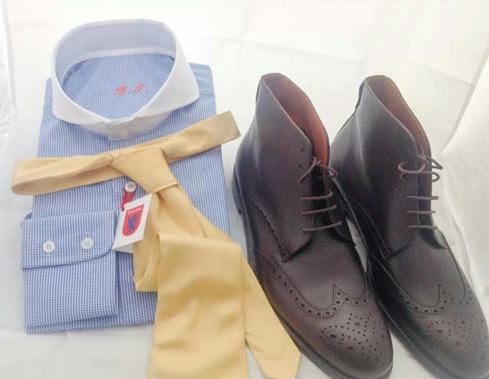 Combo Winter Shirt Cutaway and Boots by British Style