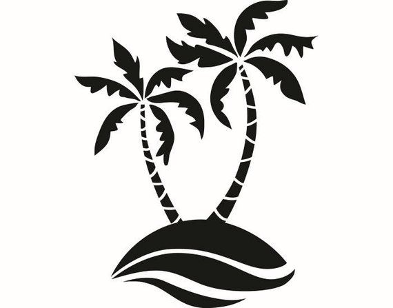 Pin By Etsy On Products Palm Tree Silhouette Palm Trees