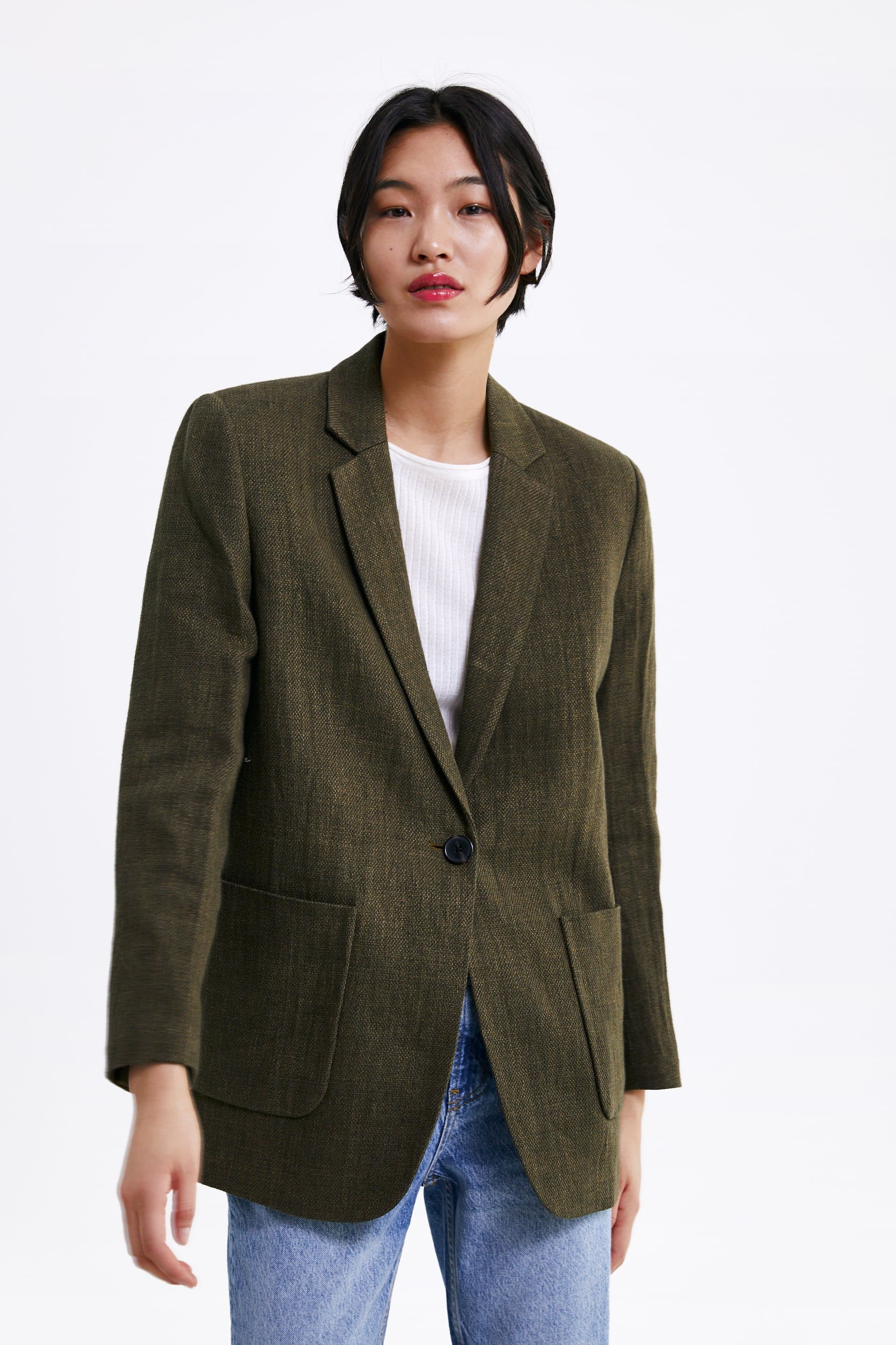 best cheap a397c b7dad Image 2 of RUSTIC BLAZER WITH POCKETS from Zara