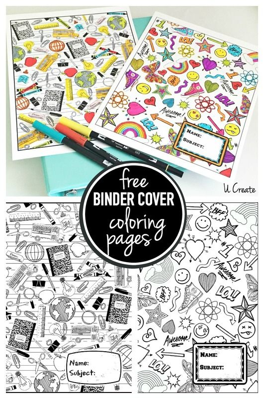 22 of the coolest back to school printables Printable binder - free word cover pages