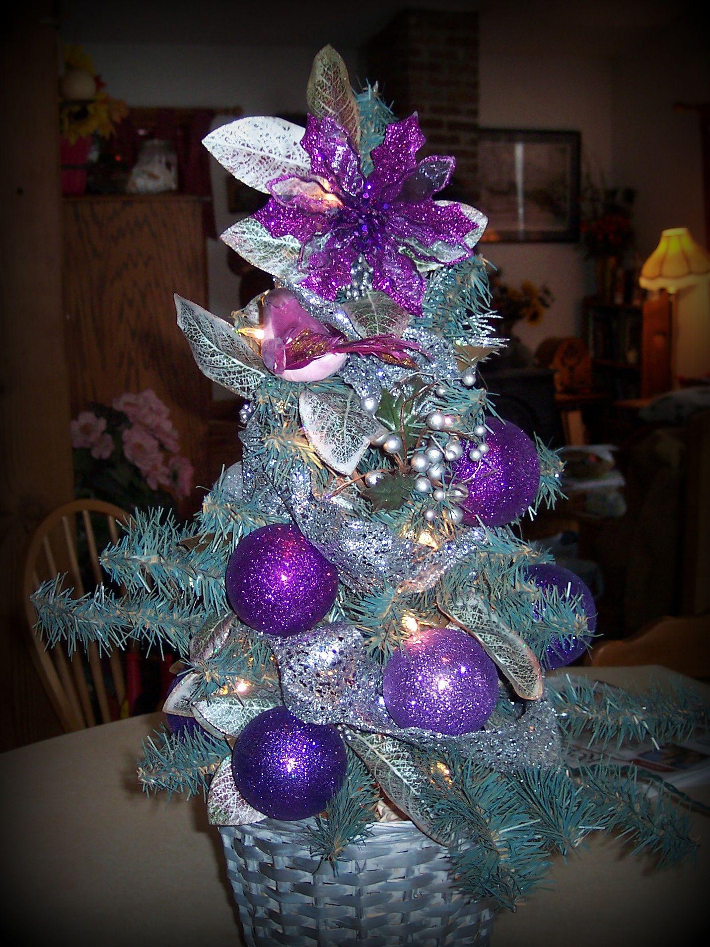 Christmas tree in purple