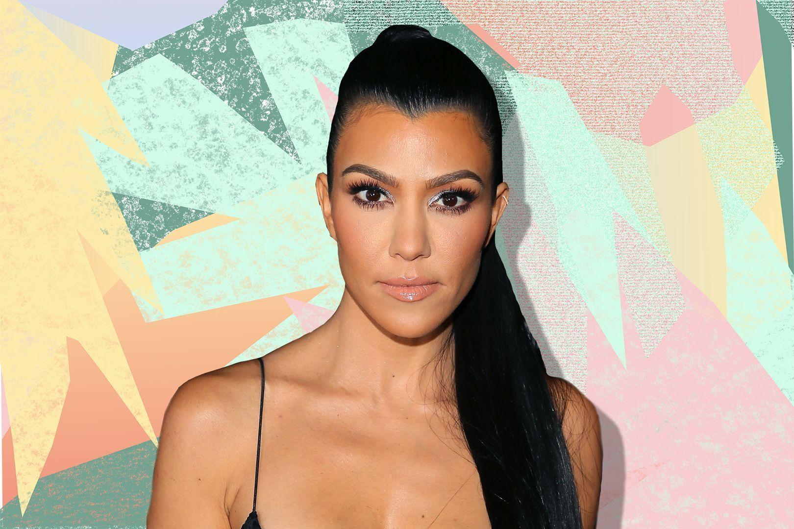 Kourtney Kardashian is being mumshamed for not tweezing her year
