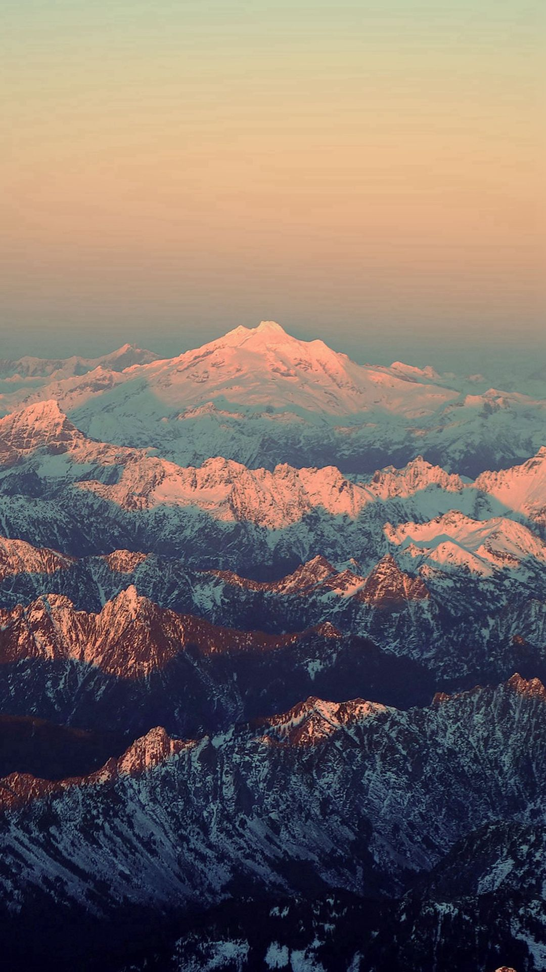 Mountain Blue Snow In Sunset Shadow Nature IPhone 6 Wallpaper