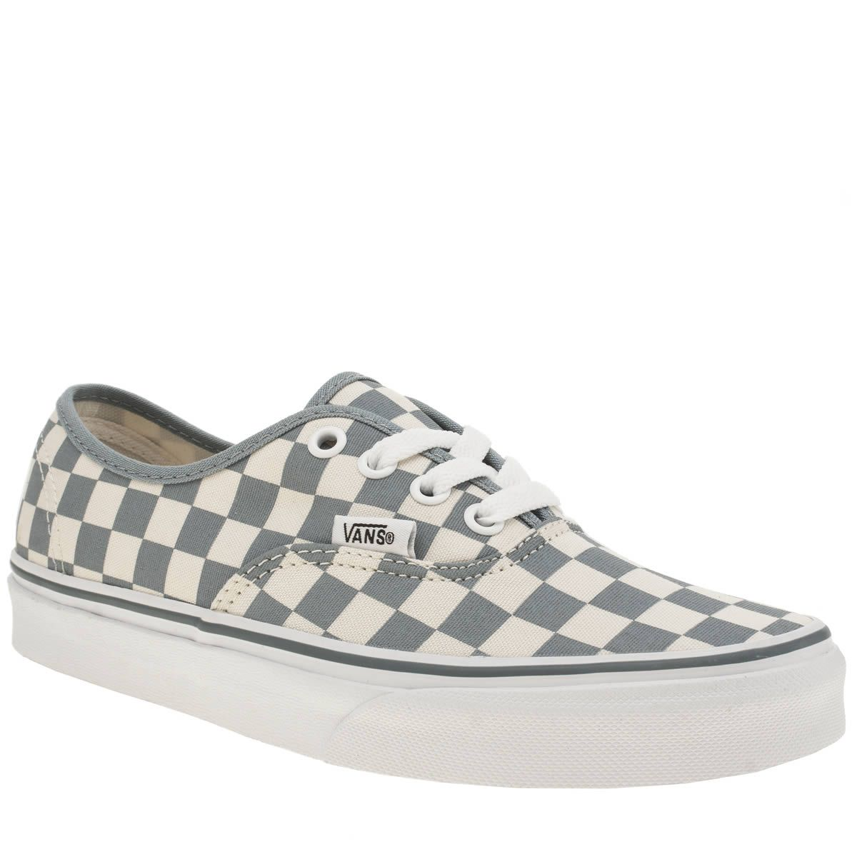 womens vans white   pl blue authentic checkerboard trainers Blue Trainers c9c11e07a