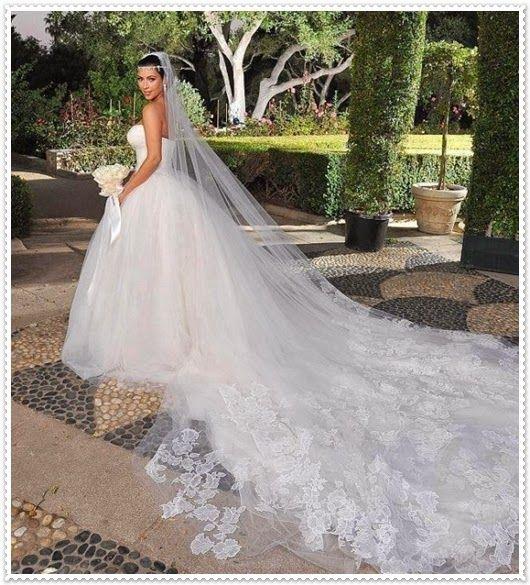 Frühjahr/Sommer Brautkleider mit langer Schleier   Hochzeitkleider ...