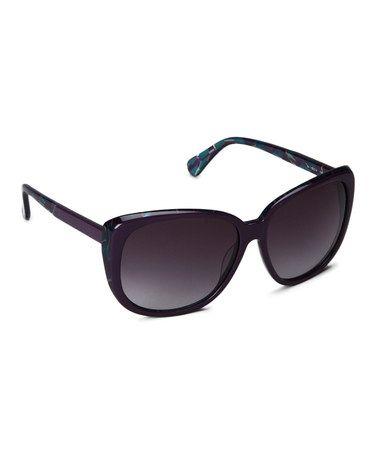 Another great find on #zulily! Aubergine Retro Softened Cat-Eye Sunglasses by Diane von Furstenberg #zulilyfinds