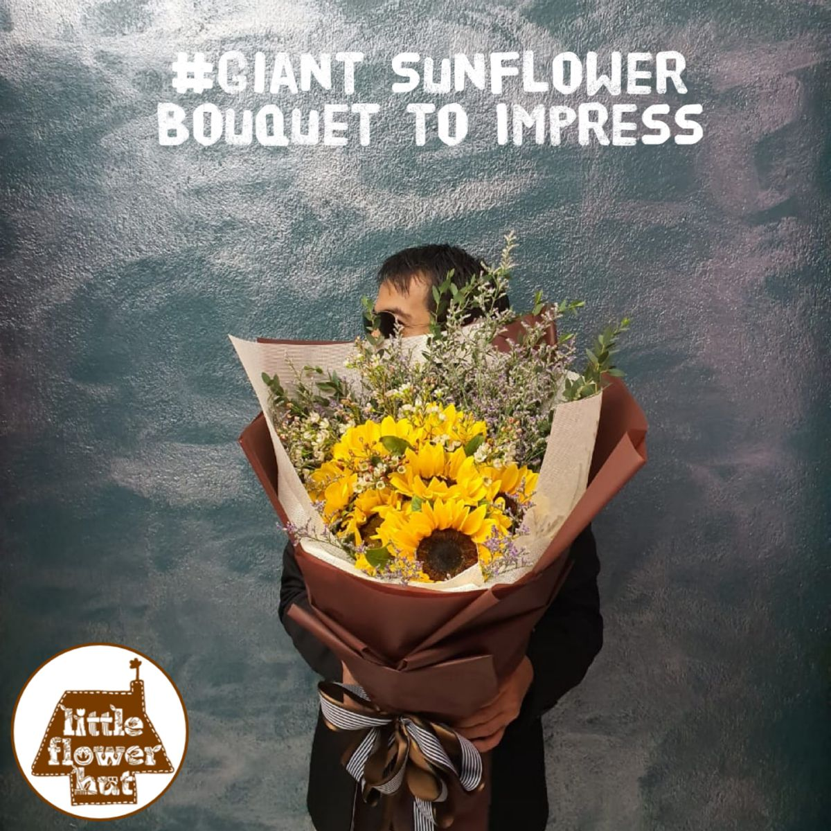 Order Sunflower Bouquet Singapore Little Flower Hut In 2020 Sunflower Bouquets Different Types Of Flowers Happy Flowers