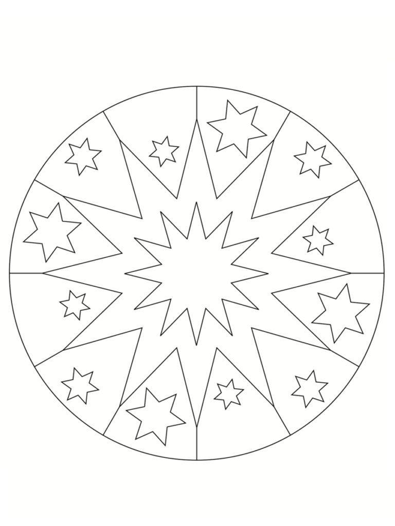 Coloriage mandala de Noël : 30 dessins à imprimer | Coloriage mandala, Mandala à colorier, Coloriage