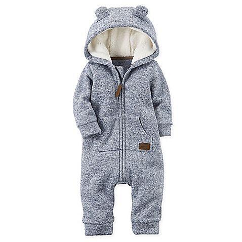 carter's® Hooded Sherpa Jumpsuit in Navy | Одежда для ...